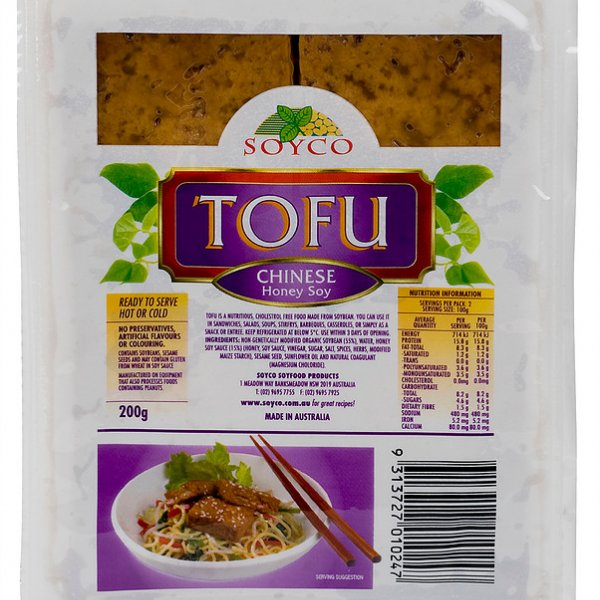 Soyco Chinese Honey Soy Tofu 200g